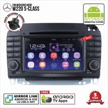 MERCEDES W220 S-Class 7' ANDROID Double Din GPS DVD Mirror Link Player