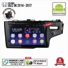 HONDA JAZZ GK 2014-18 9' ANDROID Double Din GPS DVD Mirror Link Player