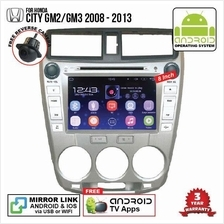 HONDA CITY 2008-2013 8' ANDROID Double Din GPS DVD Mirror Link Player