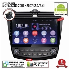 HONDA ACCORD 2004-07 2.0 10' ANDROID Double Din GPS Mirror Link Player