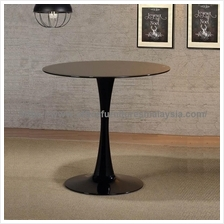 Small Round Glass Dining Table YGDTD-3157TBL/W | office Furniture KL