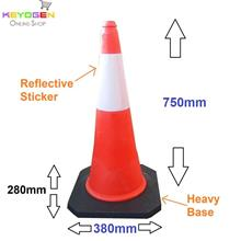 30 inches 750mm height parking cone traffic block reflective safety