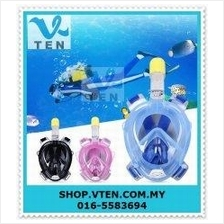 Full Face Snorkel Mask Set Swimming Easy Breath for Anti-fog Diving