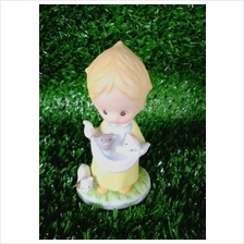 PORCELAIN HAND PAINTED DECORATION STATUE ANIMALS GIFT SS052