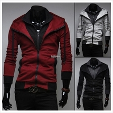 Fashion Korean Slim Fit Casual Hooded Cardigan Sweater Jacket