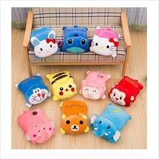 2 in 1 Warmer Soft Cartoon Plush Toys With Blanket Huggable Pillow
