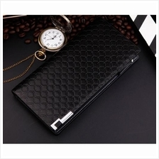 Men Classic Original Korea Long Zipper Wallet(Black)