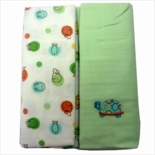 Owen Receiving Blankets 2 Piece Set (Green-Turtle))