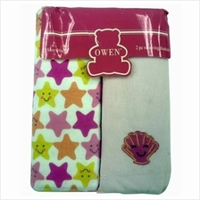 Owen Receiving Blankets 2 Piece Set (Pink-Stars))