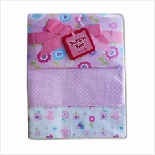 Bumble Bee 100% Cotton 3-Receiving Blankets Pink Flower - BLK0042)