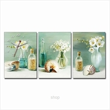 hOurHome 3pcs Rectangle Modern Art Paintings  & Clock Set - A3964-1-2-3)