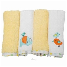 OWEN Terry Washcloth 4Pcs Set – YELLOW - 6688Y