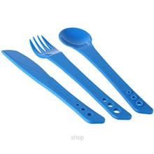 Lifeventure Ellipse Cutlery Knife Fork Spoon Set Blue - LVE-75010