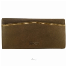 Country Roots CY9422 Long Leather Wallet Brown)