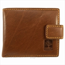 Country Roots CZ9424 Mid-flip Leather Wallet Brown)