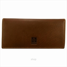 Country Roots CZ9425 Long Leather Wallet Brown)