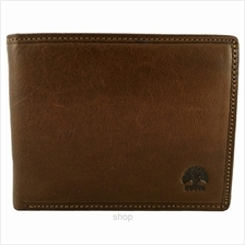 Country Roots CA9428 Side-flip Leather Wallet Brown)