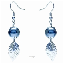 Kelvin Gems Leafy Swarosvki Hook Pearl Earring Crafted by Angie