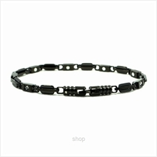 Criss Stainless Steel Bio Magnetic Full Black Bracelet for Unisex - SSU-8888