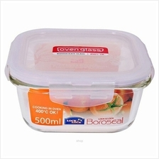 Lock  & Lock Euro Glass Container Square 500ml - LLG214
