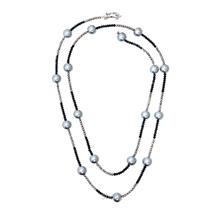 Kelvin Gems Multiway Teresa Navy Blue  & Silver Necklace
