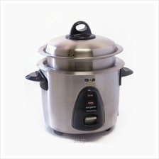 Hanabishi 3PLY Stainless Steel Rice Cooker with steamer 1.0L - HA3166R