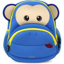 NOHOO Monkey Kids Backpacks Blue (For 4-6 Years Old) - NH020