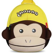 NOHOO Monkey with Cap Kids Backpacks Yellow (For 4-6 Years Old) - NH021