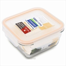 Glasslock Food Container Square Taper 400ml - MCSW-040)