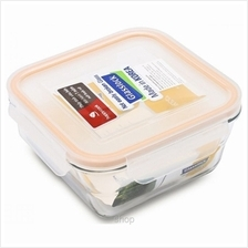Glasslock Food Container Square Taper 900ml - MCSW-090)