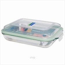Glasslock Food Container Rectangular 1900ml - MPRB-190)