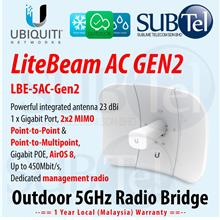LBE-5AC-Gen2 Ubiquiti LiteBeam AC 5 GHz Unlicensed Radio Bridge UBNT