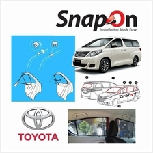 Groovy Toyota MPV SNAP-ON 4.0 (MAGNET) Car Sunshades