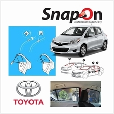 Groovy Toyota HB SNAP-ON 4.0 (MAGNET) Car Sunshades