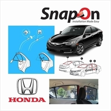 Groovy Honda SEDAN SNAP-ON 4.0 (MAGNET) Car Sunshades