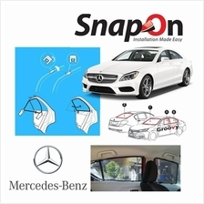 Groovy Mercedes SEDAN SNAP-ON 4.0 (MAGNET) Car Sunshades