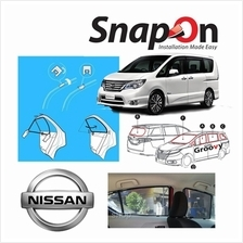 Groovy Nissan MPV SNAP-ON 4.0 (MAGNET) Car Sunshades