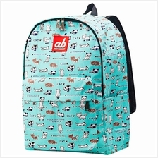 ab New Zealand Kids Canvas Backpack (Kitty on Mint) - AB-KBP-KM