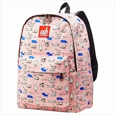 ab New Zealand Kids Canvas Backpack (Kitty on Pink) - AB-KBP-KP