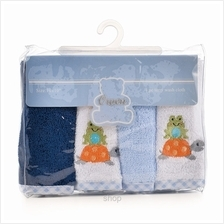 OWEN Terry Washcloth 4Pcs Set – BLUE - 6688B