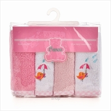 OWEN Terry Washcloth 4Pcs Set – PINK – 6688P)