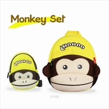 [Combo Set] NOHOO Monkey Back Pack + Sling Bag)