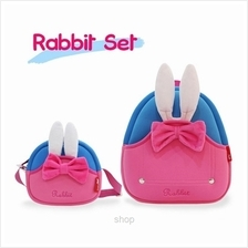 [Combo Set] NOHOO Rabbit Back Pack + Sling Bag