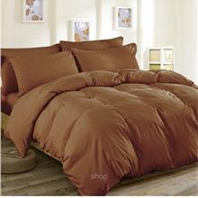 Cozzi Microfiber Plush Fitted Bedsheet Set Brown