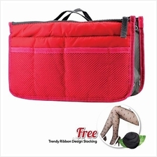 Shills Korean Red Macaroon Compartment Bag