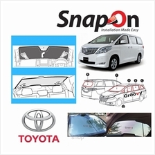 Groovy Toyota MPV SNAP-ON Car Sunshades - R Row