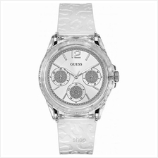 Guess W0947L2 Women Starlight Multifunction White Silicone Strap Watch