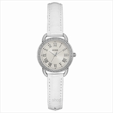 Guess W0959L1 Women Fifth Ave White Leather Strap Watch