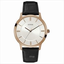 Guess W0664G4 Men Escrow Black Leather Strap Watch