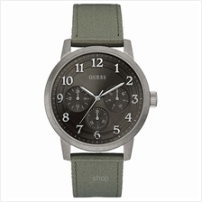 Guess W0975G4 Men Brooklyn Multifunction Khaki Green Canvas Strap Watch